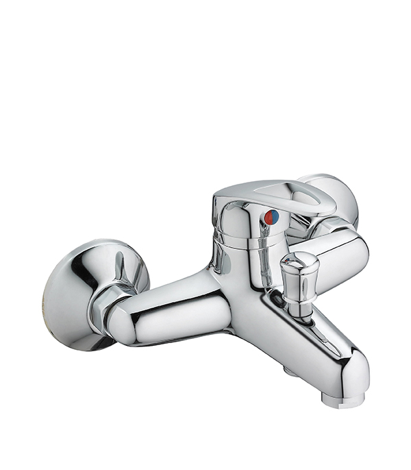 Смеситель для ванны и душа MITTE ECONOMIC ECN01BS с коротким изливом однорычажный с лейкой смеситель для ванны и душа wasserkraft aller 1062l white с длинным изливом 9061184