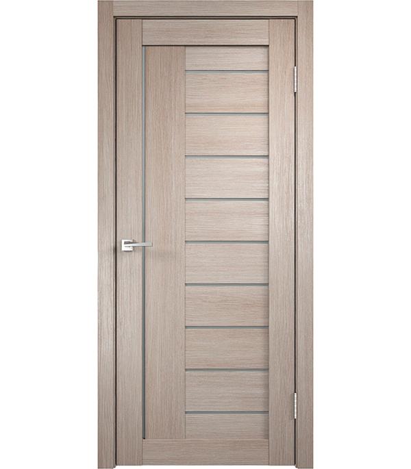 Дверное полотно экошпонVISION 2 капучино 700х2000 мм со стеклом без притвора цена