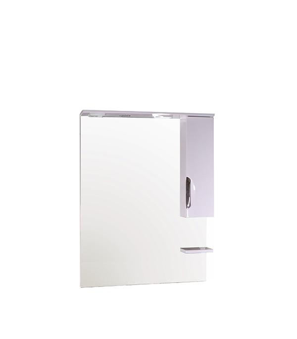 Зеркальный шкаф АСБ-Мебель Мессина 800 мм с подсветкой белый