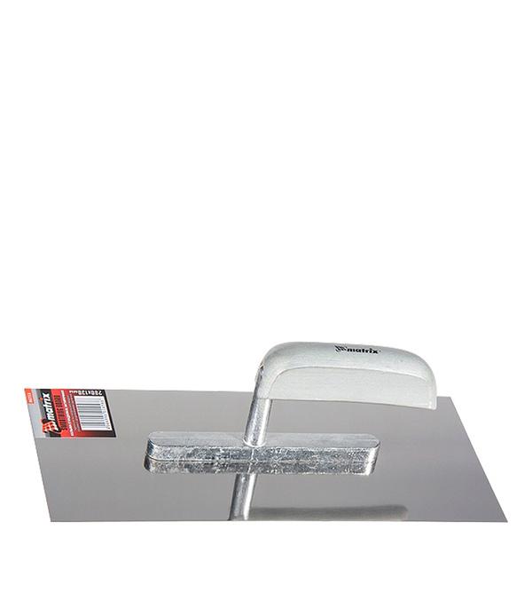 Гладилка плоская Matrix 480х130 мм с деревянной ручкой миксер для красок и штукатурных смесей 100х600 мм matrix 84845