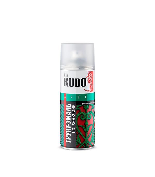 Грунт-эмаль по ржавчине Kudo RAL 8017 шоколадная аэрозольная 520 мл