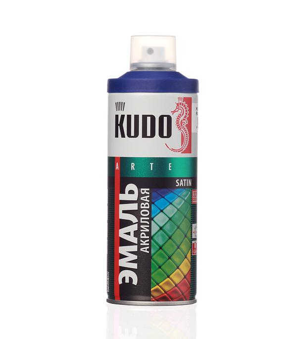 Эмаль акриловая аэрозольная Kudo satin Ral 5002 синяя 520 мл