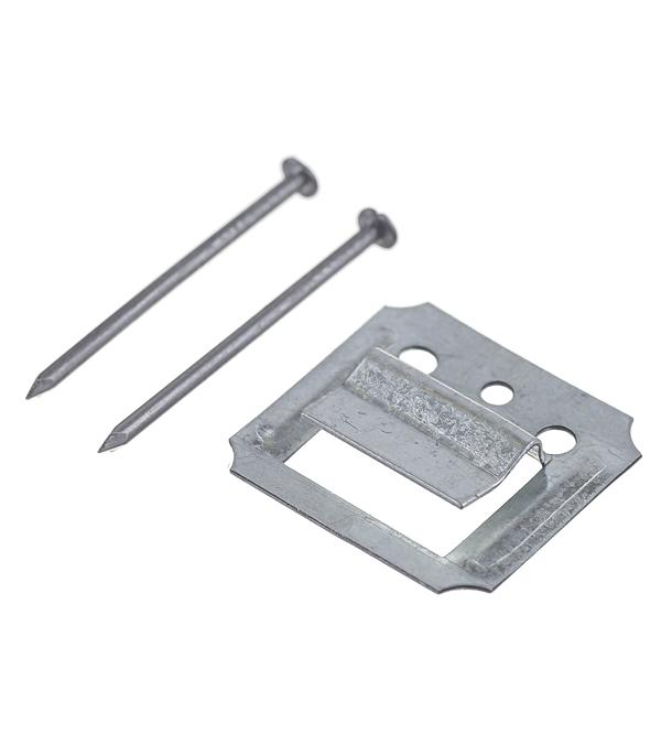 Крепеж кляймер №2 с гвоздями для вагонки и пластиковых панелей (100 шт)