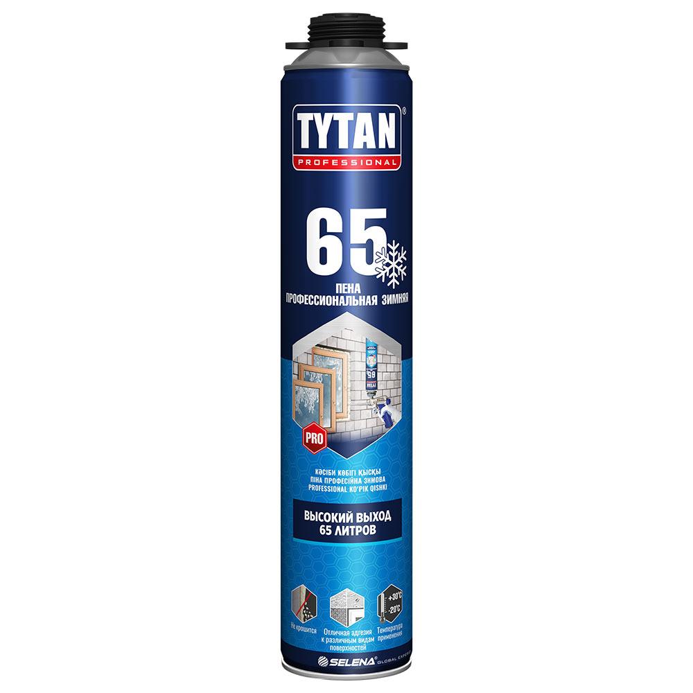 Пена монтажная Tytan 65 O2 профессиональная зимняя 750 мл