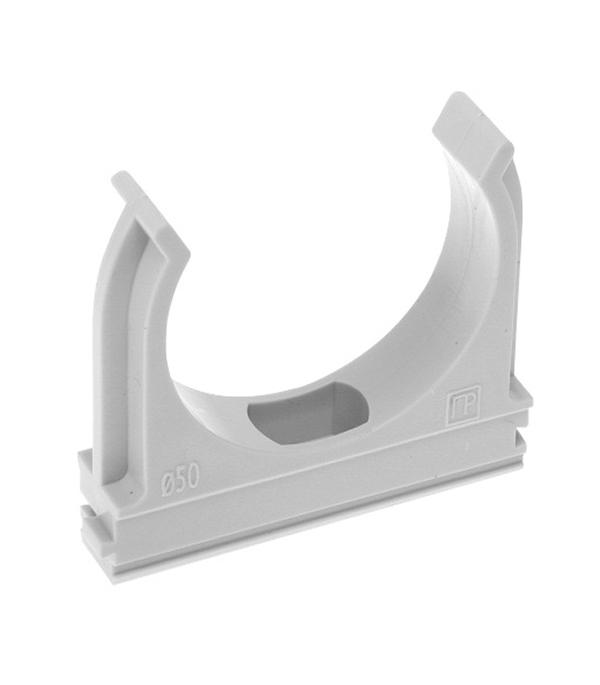 Крепеж-клипса для труб 20 мм тёмно-серая (10 шт) цены