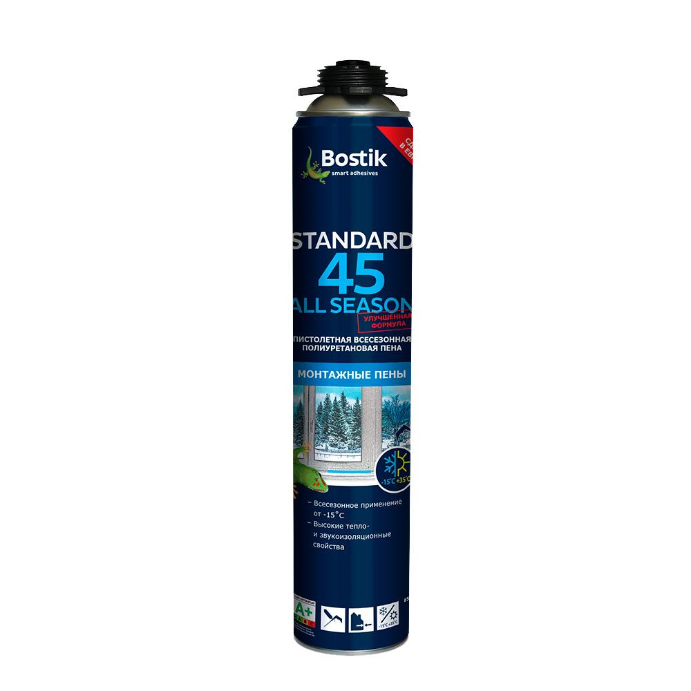 Пена монтажная Bostik Standard 45 профессиональная всесезонная 650 мл