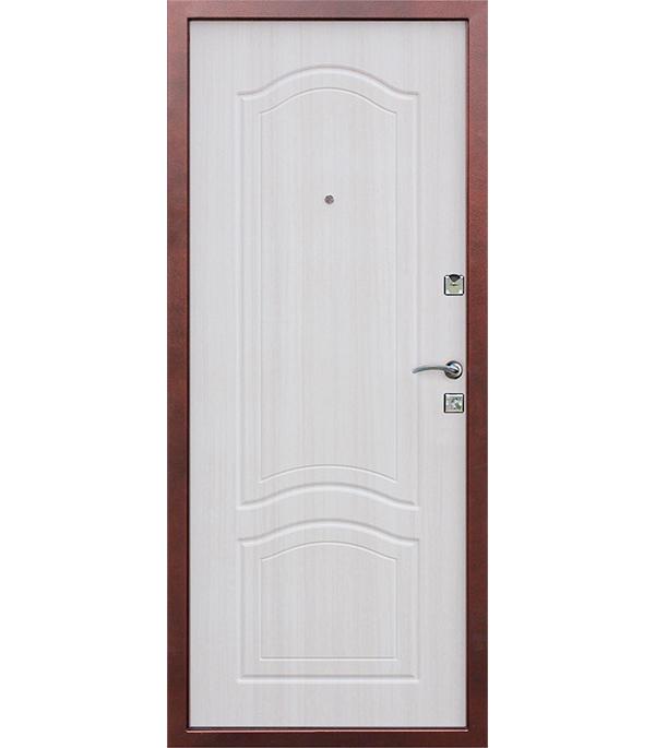 Дверь входная Dominanta правая медный антик - белый ясень 860х2050 мм