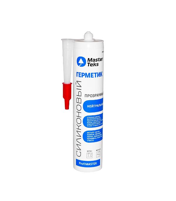 Герметик силиконовый MasterTeks ProfiMaster нейтральный 290 мл прозрачный
