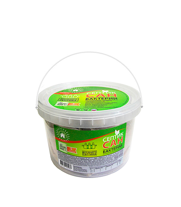 Бактерии для септиков СЕПТИКСАН 400 гр ромашка с 1 мес 20 гр 20 пакетиков