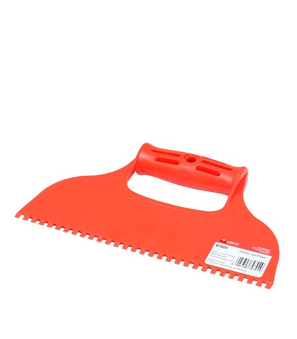 Шпатель 235 мм для клея зуб 4х6 мм Corte шпатель для силикона 135 мм