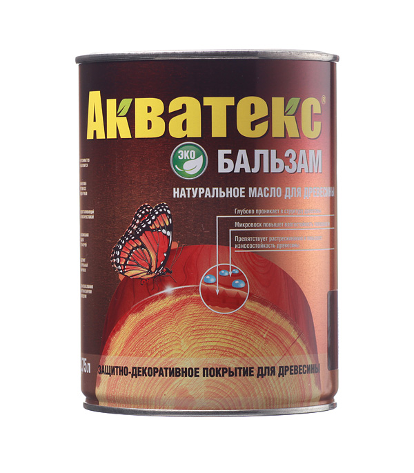 Масло для дерева Акватекс Бальзам палисандр 0.75 л