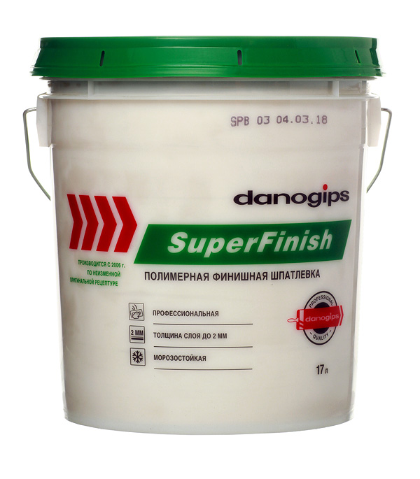 Шпатлевка Danogips SuperFinish универсальная 17 л