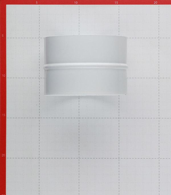 Соединитель для круглых воздуховодов d100 мм стальной белый фото