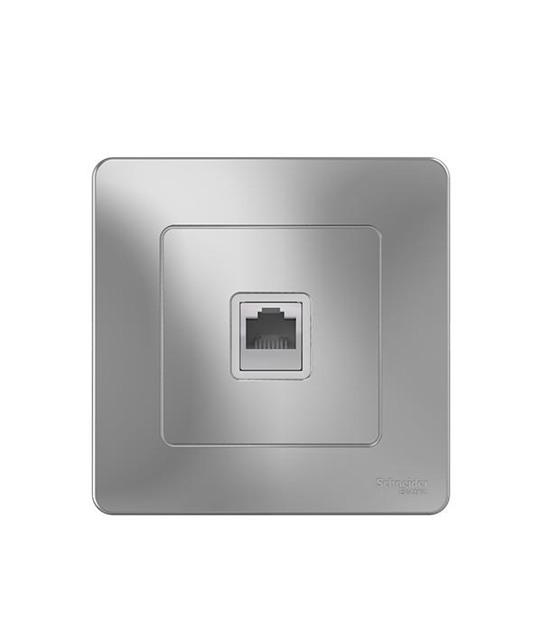 Розетка компьютерная с/у Schneider Electric Blanca алюминий