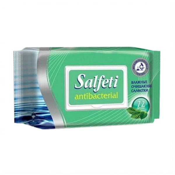 Салфетки влажные антибактериальные Salfeti (72 шт.)