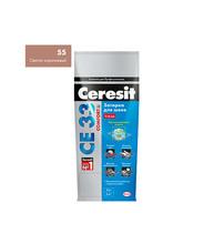 Затирка Церезит СЕ 33 №55 светло-коричневый 2 кг