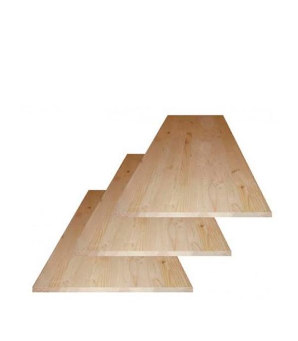 Щит мебельный хвоя 18х600х2000 мм сорт АВ клееный