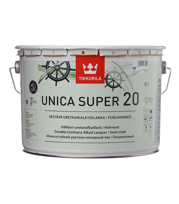 Лак алкидно-уретановый яхтный Tikkurila Unica Super 20 основа EP бесцветный 9 л полуматовый