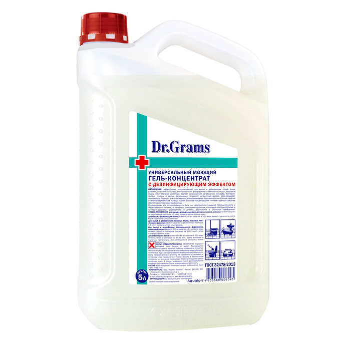 Гель-концентрат моющий Dr.Grams 5 л с дезинфицирующим эффектом