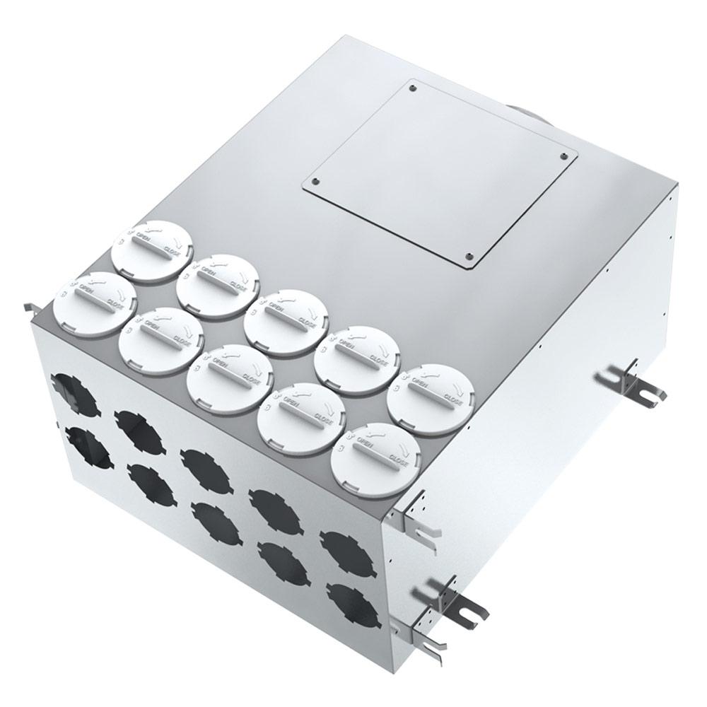 Коллектор для круглых воздуховодов BlauFast SR 160/75х10 01 с фланцем d67 мм металлический