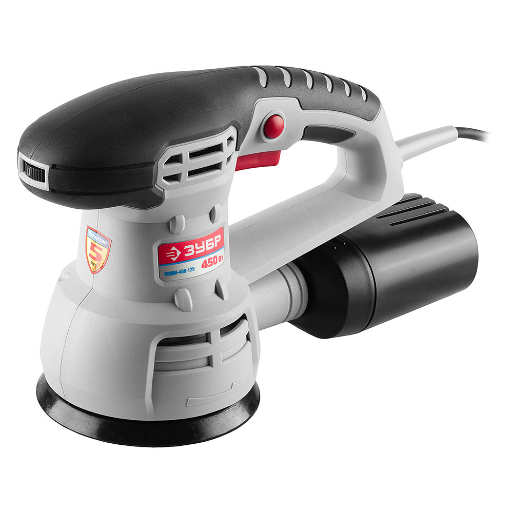 Шлифмашина эксцентриковая электрическая ЗУБР ЗОШМ-450-125 450 Вт d125 мм