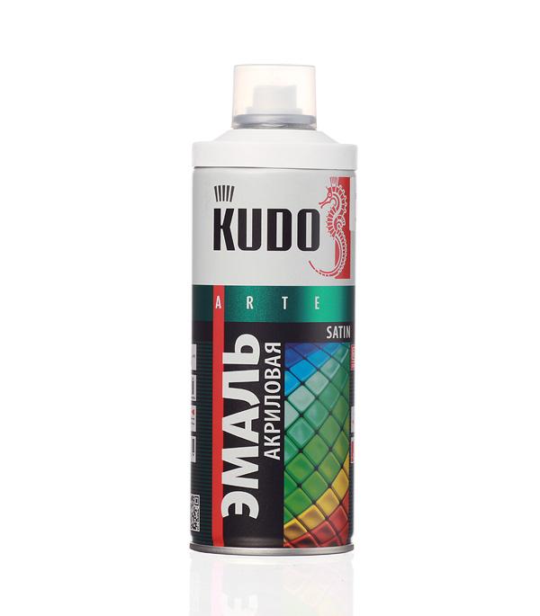 Эмаль акриловая аэрозольная Kudo satin Ral 9003 белая 520 мл