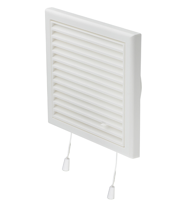 цена на Решетка вентиляционная пластиковая приточно-вытяжная Вентс 186х186 мм с сеткой регулируемая c фланцем d125 мм белая