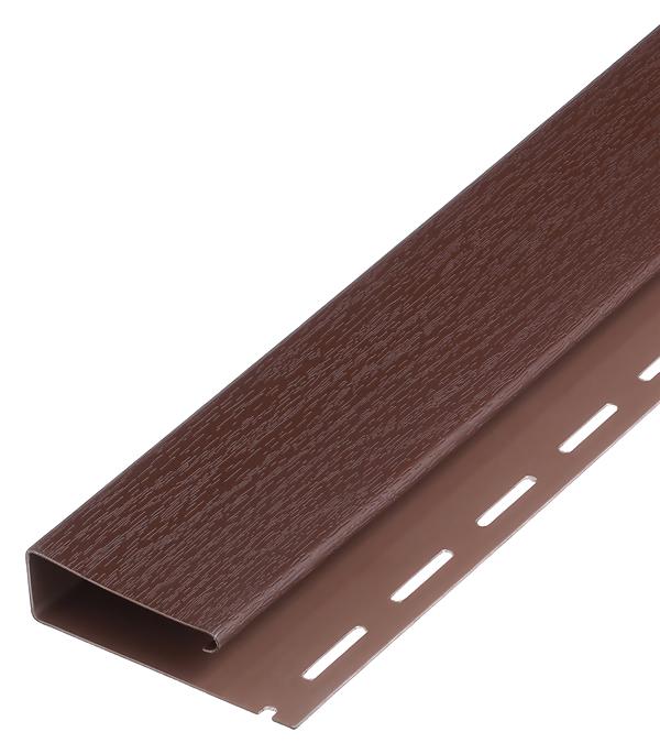 Наличник J-профиль Vinyl-On 3660 мм кофе сайдинг vinyl on планка финишная 3660 мм белая