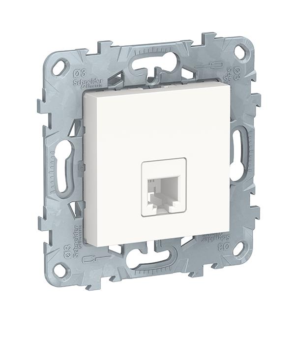 Механизм розетки телефонной с/у Schneider Electric UNICA NEW белый механизм переключателя одноклавишного проходного с у schneider electric unica белый