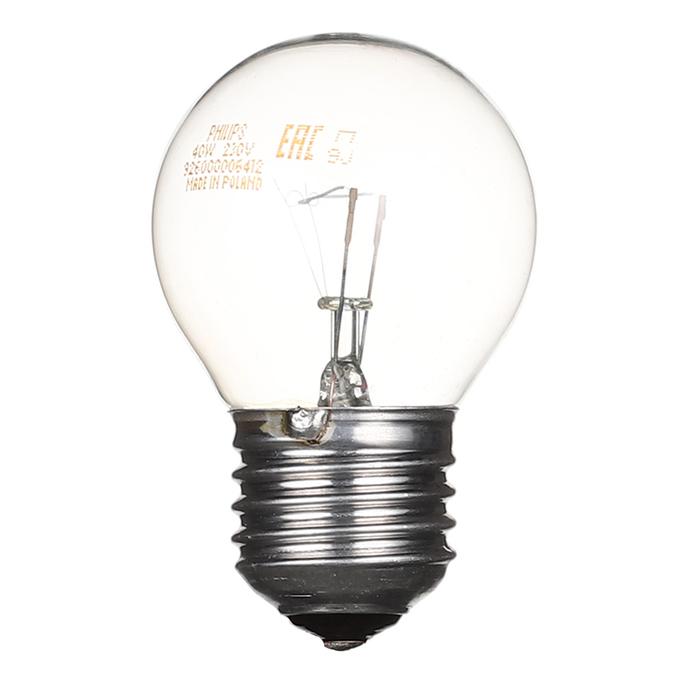 Лампа накаливания Philips 40 Вт E27 шар G45 220 В прозрачная