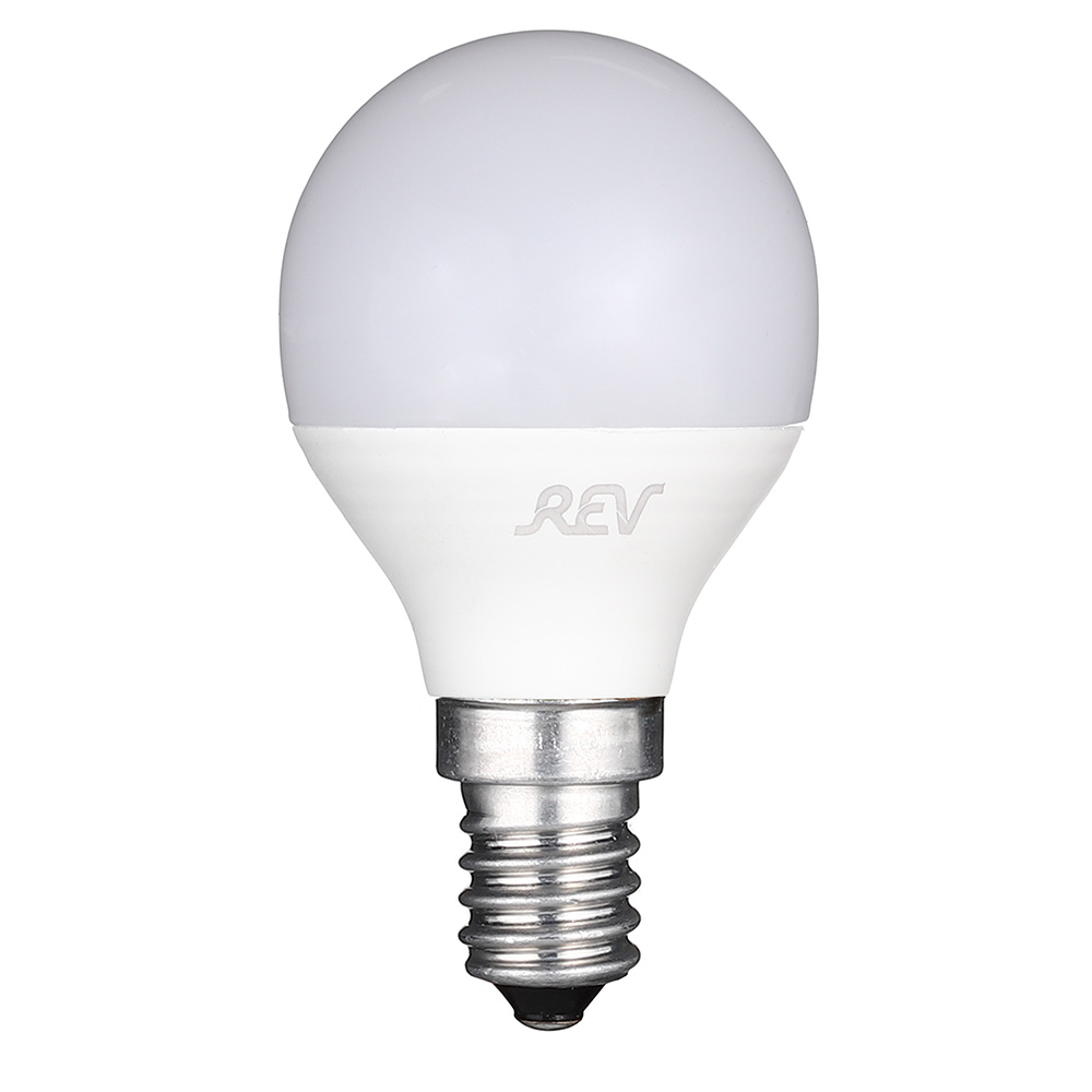 Лампа светодиодная REV 7 Вт E14 шар G45 2700 К теплый свет 230 В матовая цена 2017