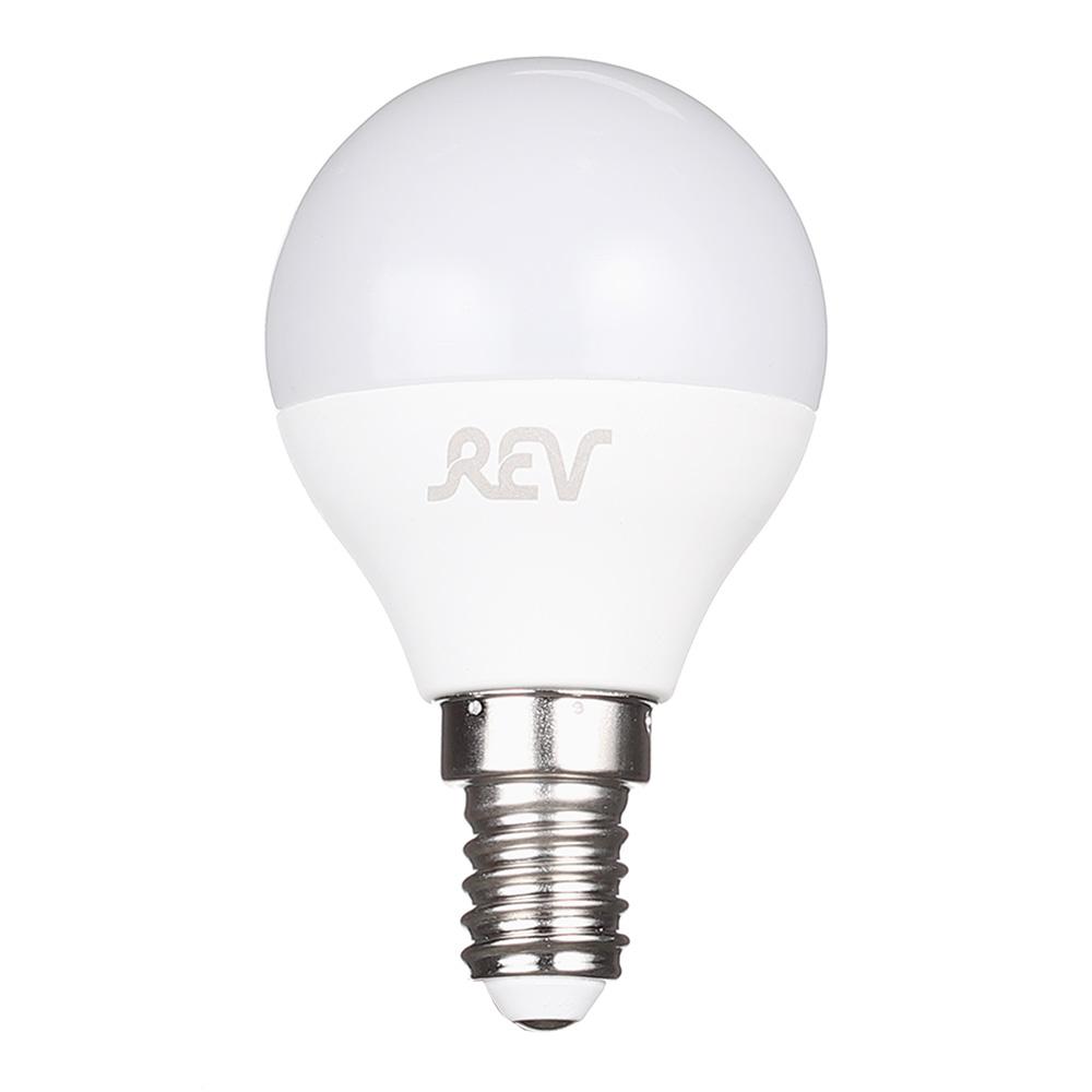 Лампа светодиодная REV 9 Вт E14 шар G45 2700 К теплый свет 230 В матовая цена 2017