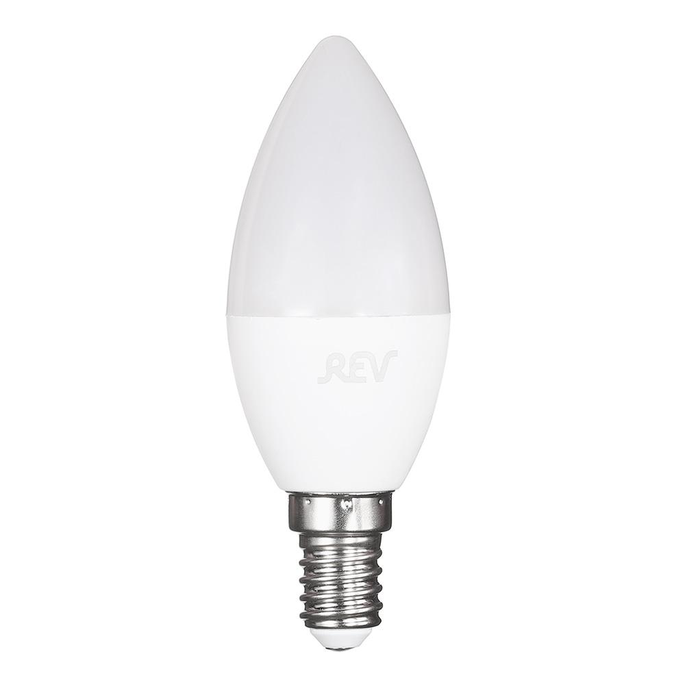 Лампа светодиодная REV 9 Вт E14 свеча С37 2700 К теплый свет 230 В прозрачная цена 2017