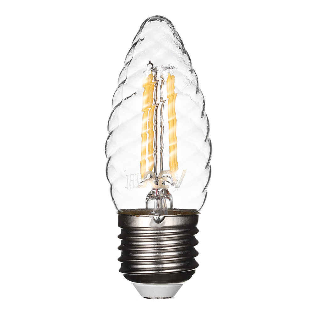 Лампа светодиодная REV 7 Вт E27 филаментная свеча витая TC37 2700 К теплый свет 230 В прозрачная лампа светодиодная sonnen 5 40 вт цоколь e27 свеча теплый белый свет led c37 5w 2700 e27 453707
