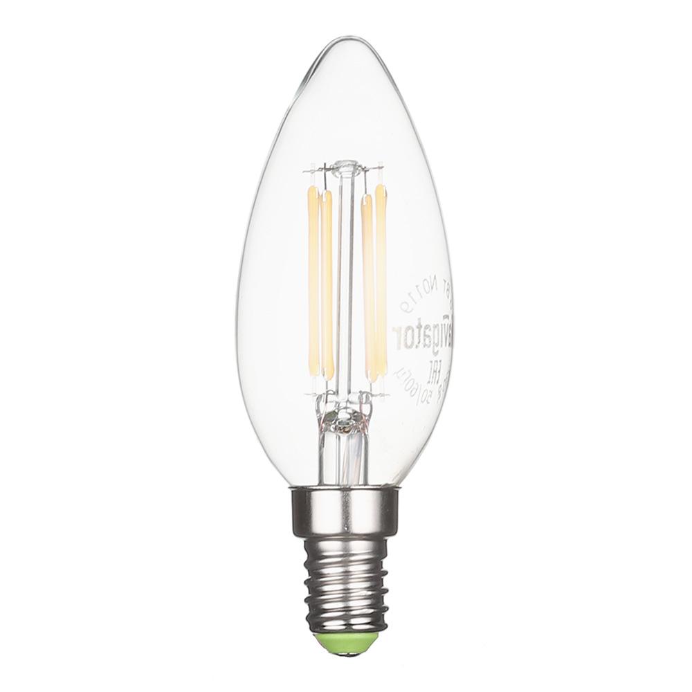 Лампа светодиодная Navigator 6 Вт E14 филаментная свеча С37 2700 К теплый свет 230 В прозрачная