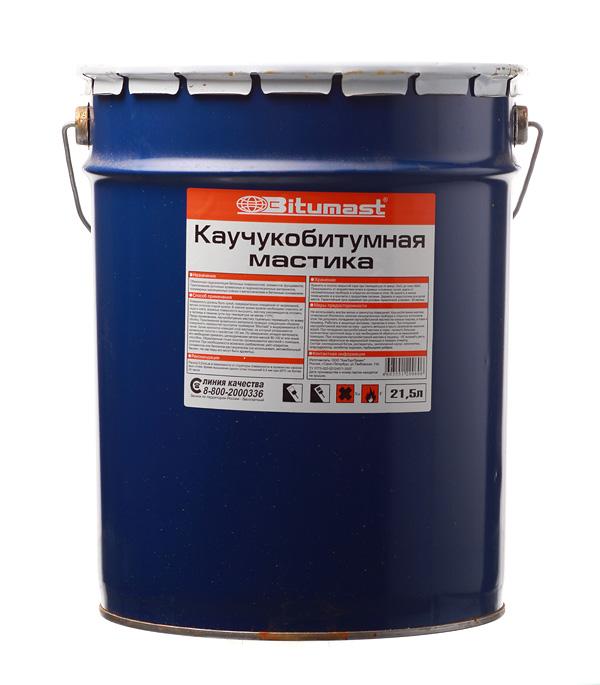 Мастика каучукобитумная Bitumast 18 кг/21,5 л фото