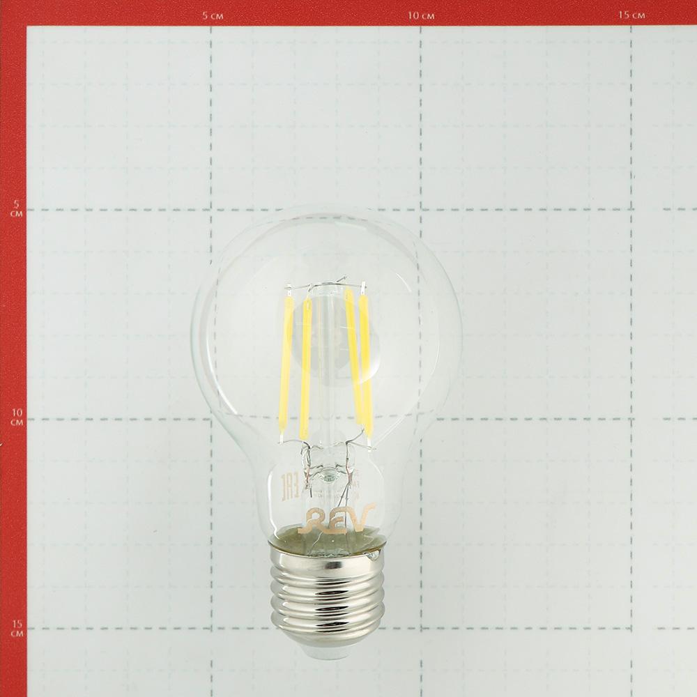 Лампа светодиодная REV 7 Вт E27 филаментная груша A60 4000 К дневной свет 230 В прозрачная фото
