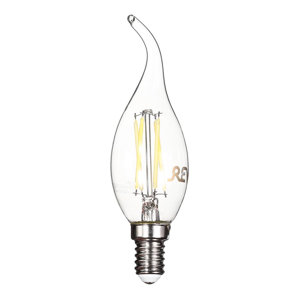 Лампа светодиодная REV 5 Вт E14 филаментная свеча на ветру FC37 4000 К дневной свет 230 В