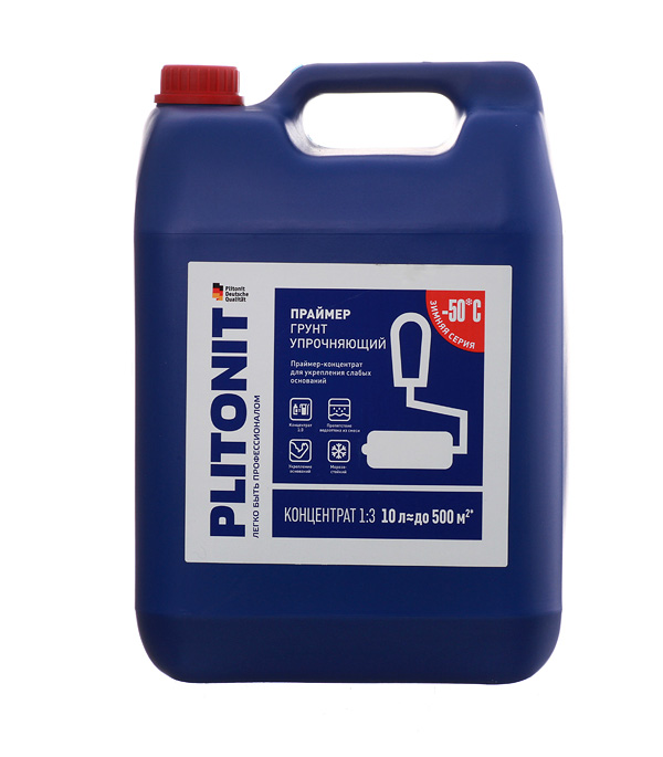 Грунт Plitonit упрочняющий концентрат 10 л