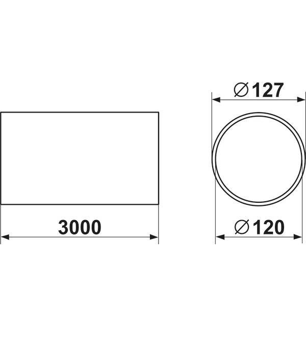 Воздуховод гибкий гофрированный Вентс Алювент Стандарт алюминиевый d120 мм 3 м фото