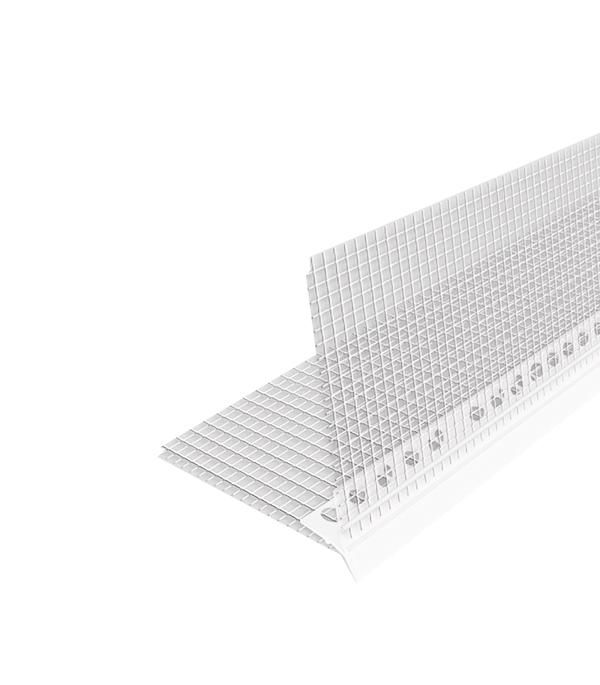 Профиль-капельник углозащитный (пластиковый, с сеткой из стекловолокна) 100х100 мм, 2,5 м профиль углозащитный алюминиевый 20х20 мм 3 м
