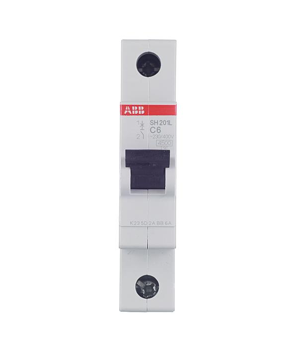 Автомат ABB SH201L (2CDS241001R0064) 1P 6 А тип C 4,5 кА 230 В на DIN-рейку автомат 1p 6а тип с 4 5ка abb sh201l