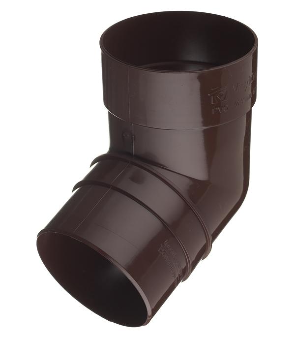 все цены на Колено трубы пластиковое Vinyl-On d90 мм 67° коричневое (кофе) онлайн