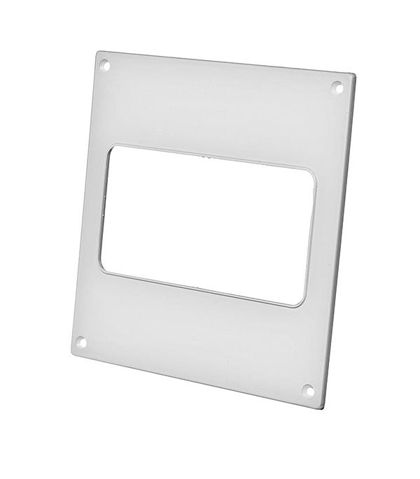 Купить Накладка настенная для плоских воздуховодов пластиковая 60х120 мм, Белый, Пластик
