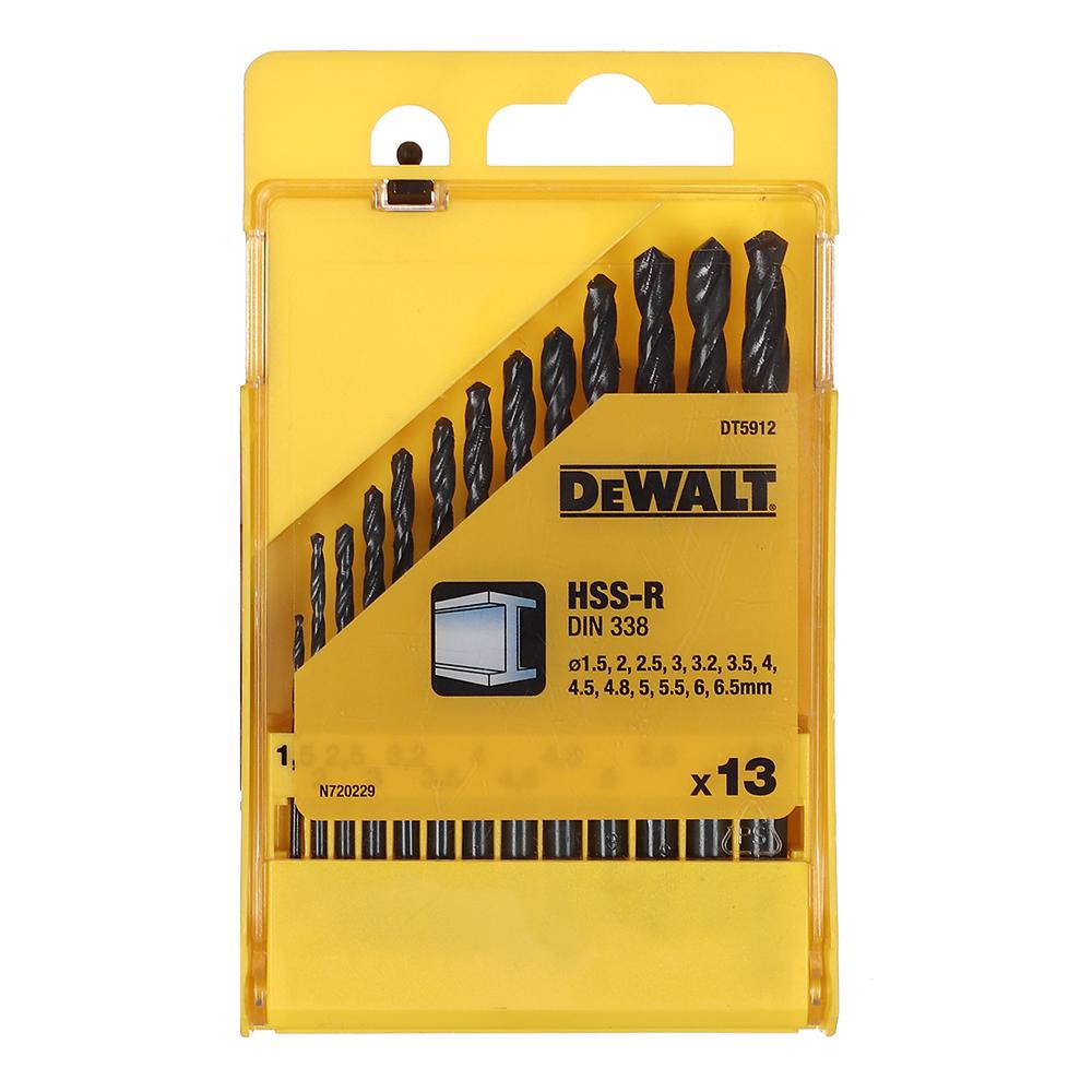 Сверло по металлу DeWalt (DT5912-QZ) 1,5-6,5 мм HSS-R набор (13 шт.)