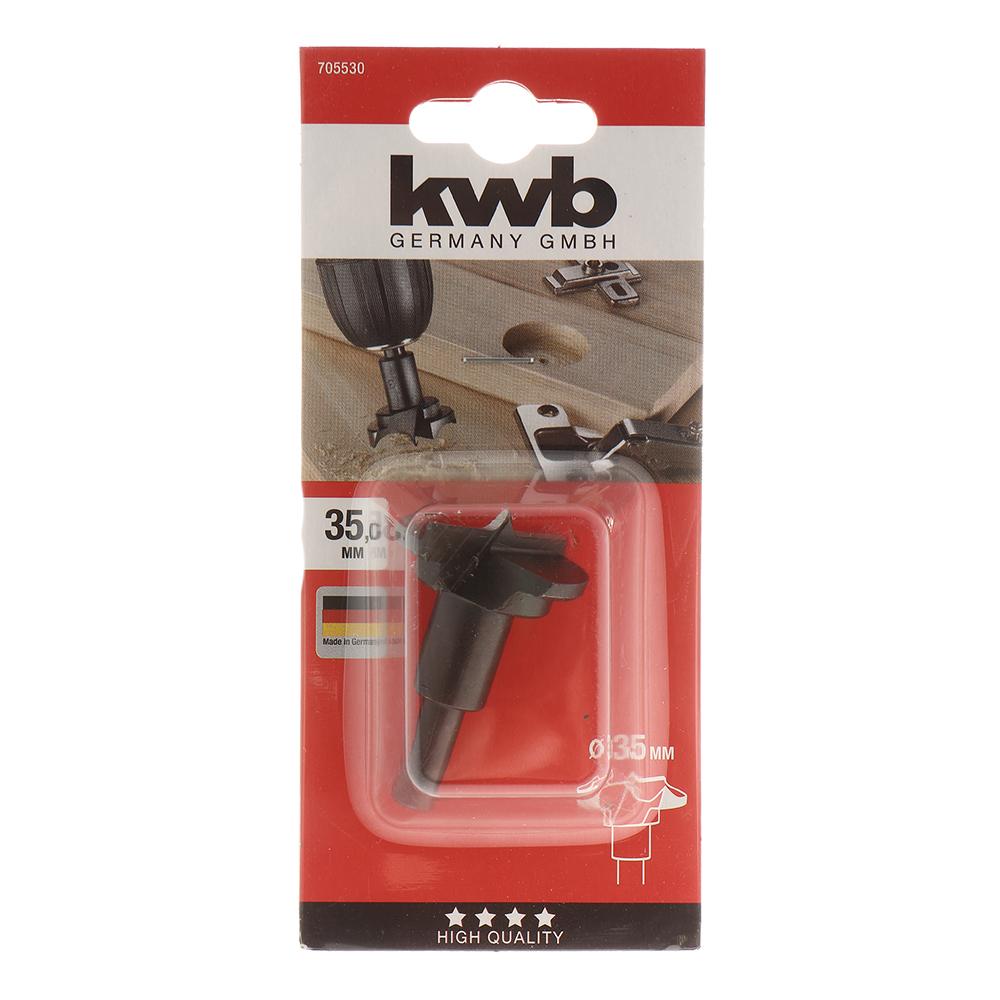 Сверло по дереву KWB (7055-30) 35x70 мм для шарниров хвостовик цилиндрический