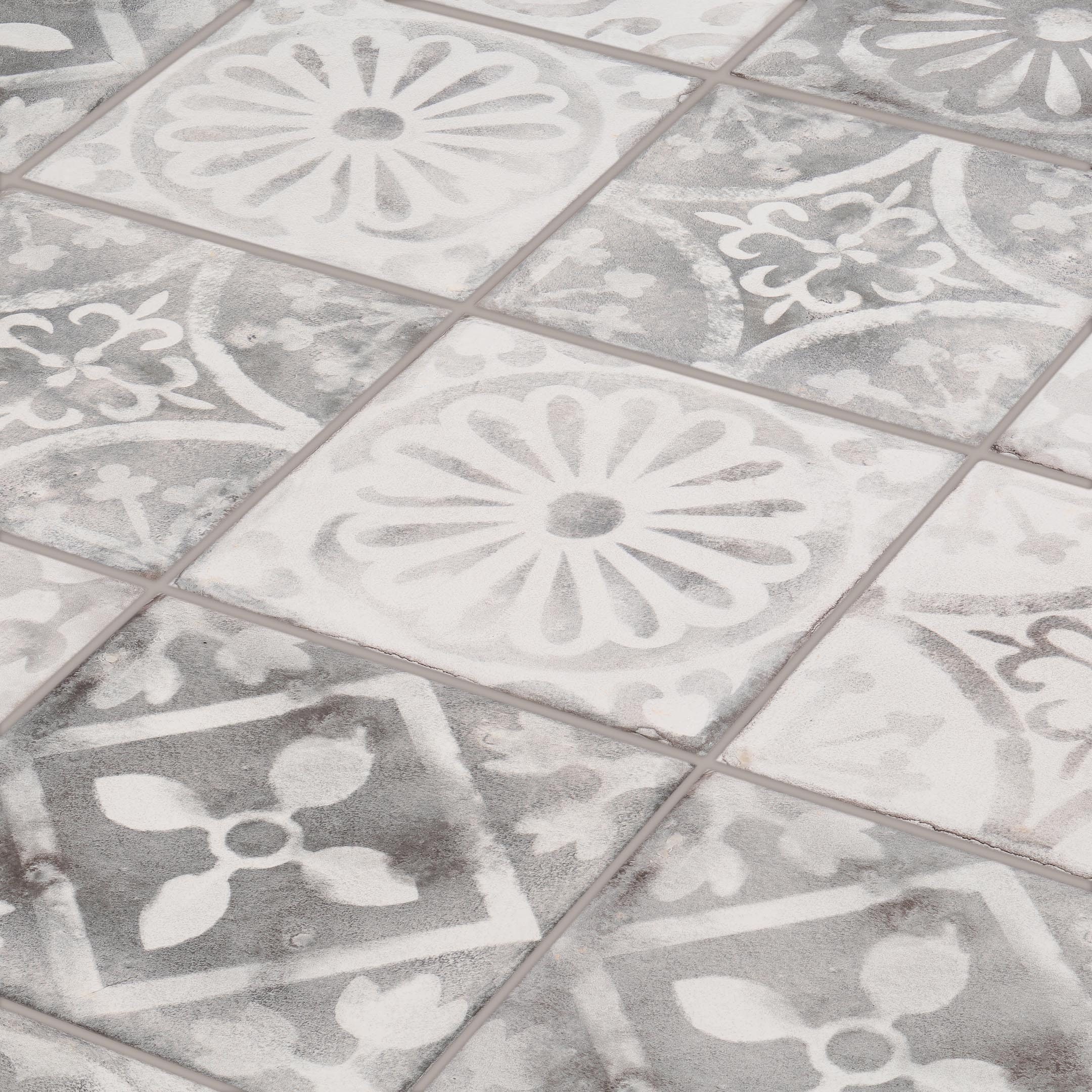 Плитка облицовочная Керамин Гранада 1Д серый микс 200x200x7 мм (26 шт.=1,04 кв.м) плитка облицовочная керамин гранада 1с серый 200x200x7 мм 26 шт 1 04 кв м
