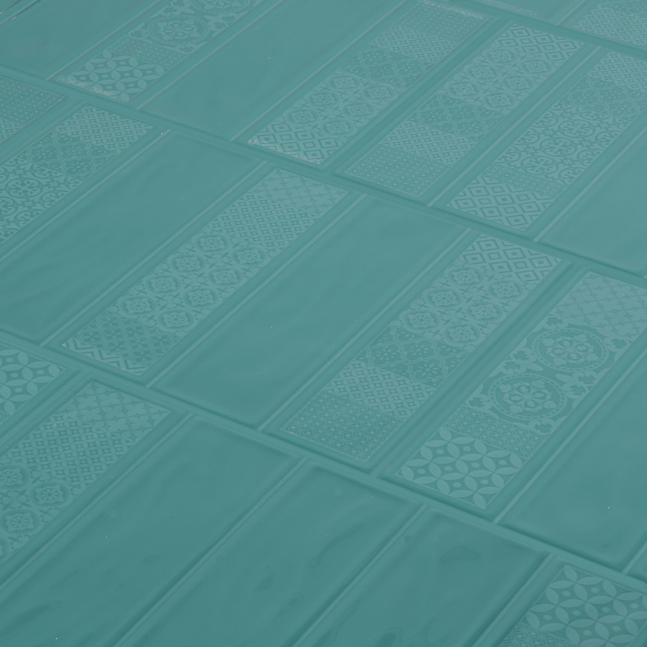 Плитка облицовочная Керамин Метро 4Д зеленый 275x400x7,5 мм (15 шт.=1,65 кв.м)