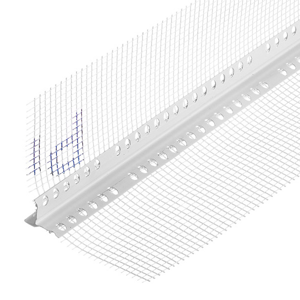 Профиль-капельникуглозащитныйпластиковый,ссеткойизстекловолокна125 х125мм2,5м