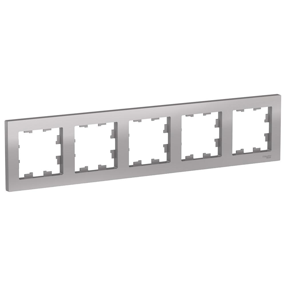 Рамка Schneider Electric Atlas Design ATN000305 пятиместная универсальная алюминий